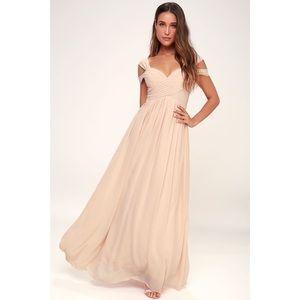 NWT Lulu's 'Make Me Move' Blush Maxi Dress